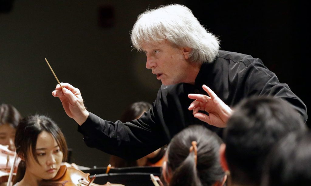 Carl St.Clair led the USC Thornton Symphony and USC Thornton Choral Artists in Beethoven's Ninth.