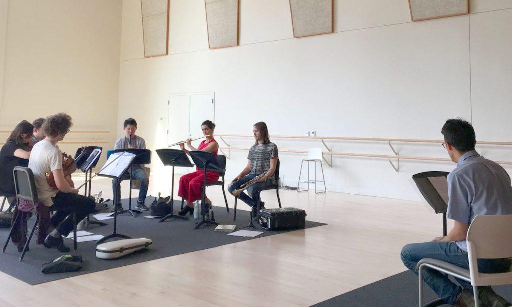 yMusic in rehearsal. (Photo by Jennifer Lott)