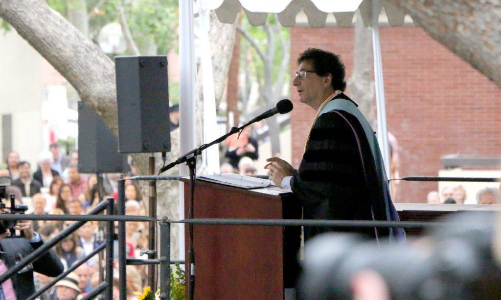 Thornton dean Robert Cutietta begins the ceremony.