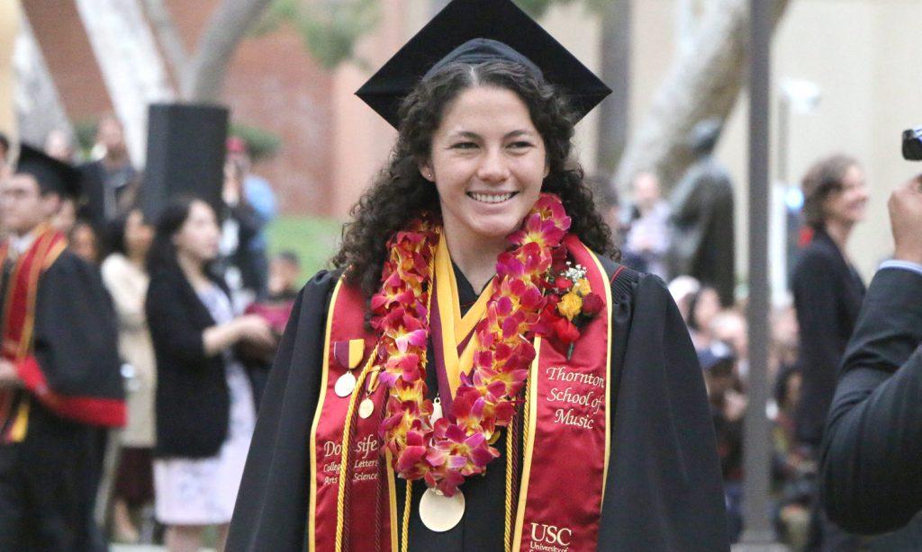 Thornton student (and USC Valedictorian) Rose Campion!