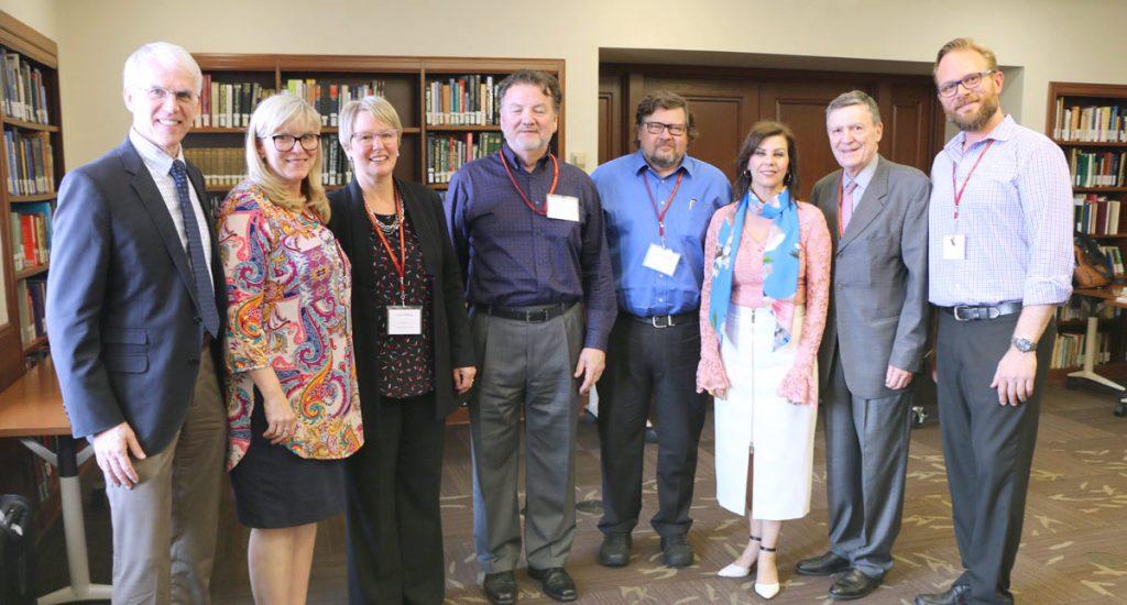 Vennard Symposium presenters (left-right): Ken Bozeman, Cindy Dewey, Lynn Helding, Stephen Austin, Scott McCoy, Kari Ragan, Thomas Cleveland, and Andrew Justice.