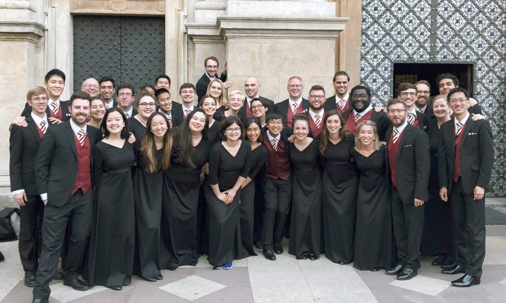 The Chamber Singers outside of their concert at Saint Peters and Paul Church in Kraków.