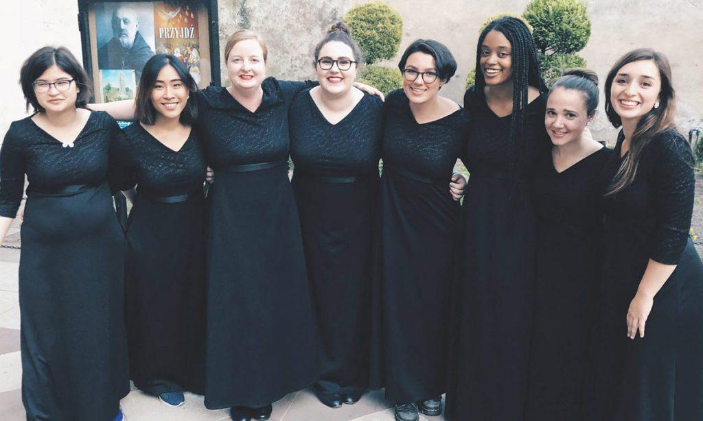 Allison Cheng, Supitcha Kansirisin, Irene Apanovitch-Leites, Isabella Custino, Clara Valenzuela, Vivian Imani, Maura Tuffy and Kayla Behforouz.