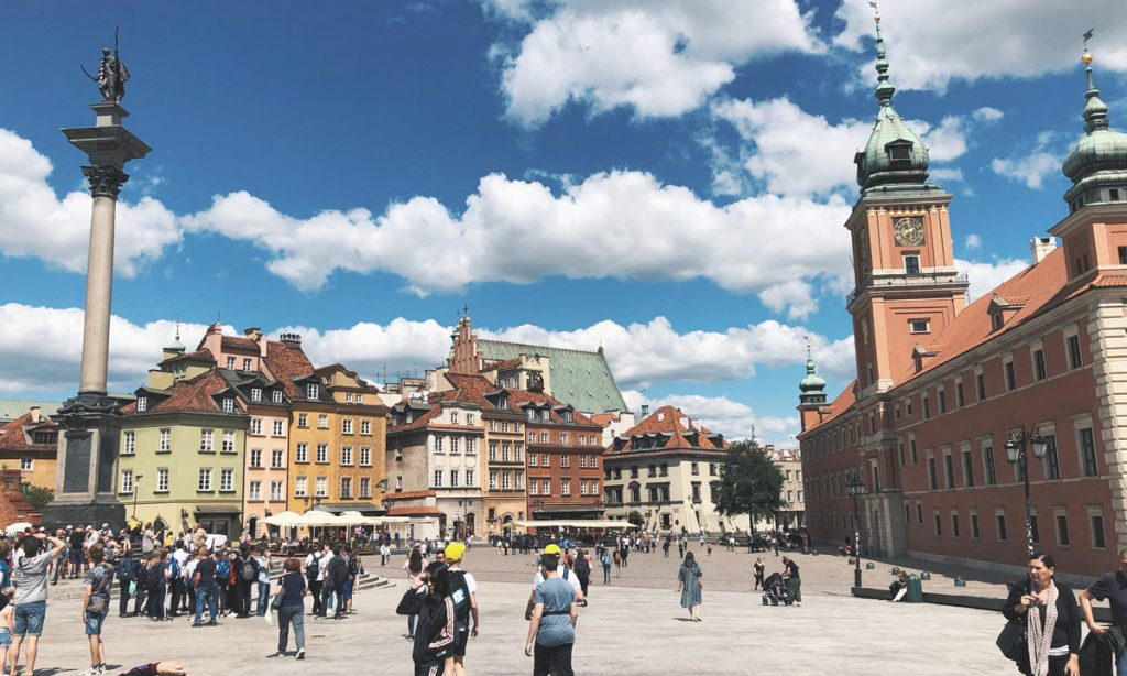 Beautiful Warsaw, Poland.