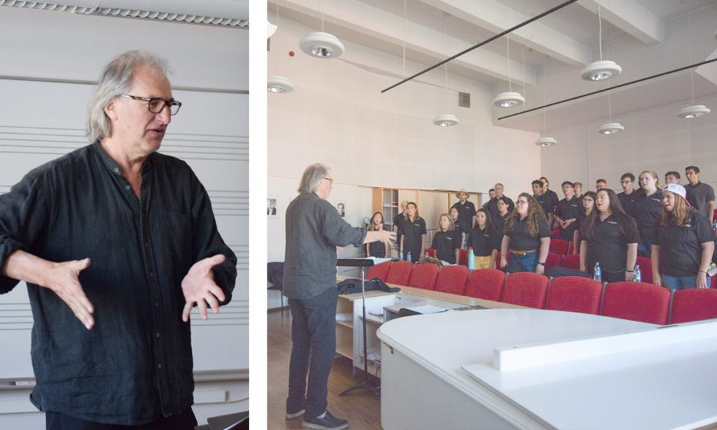 The Chamber Singers undertook a workshop with Tõnu Kaljuste, director of the Estonian Philharmonic Chamber Choir.