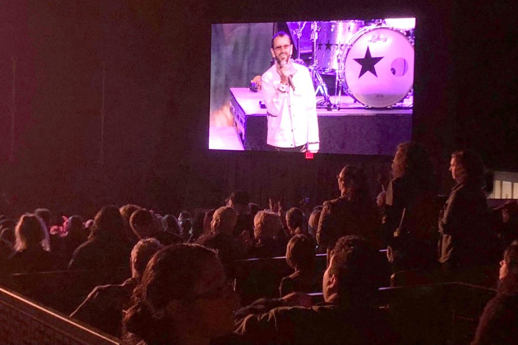 Following their backstage tour, the group enjoyed Ringo Starr's Greek Theatre performance.