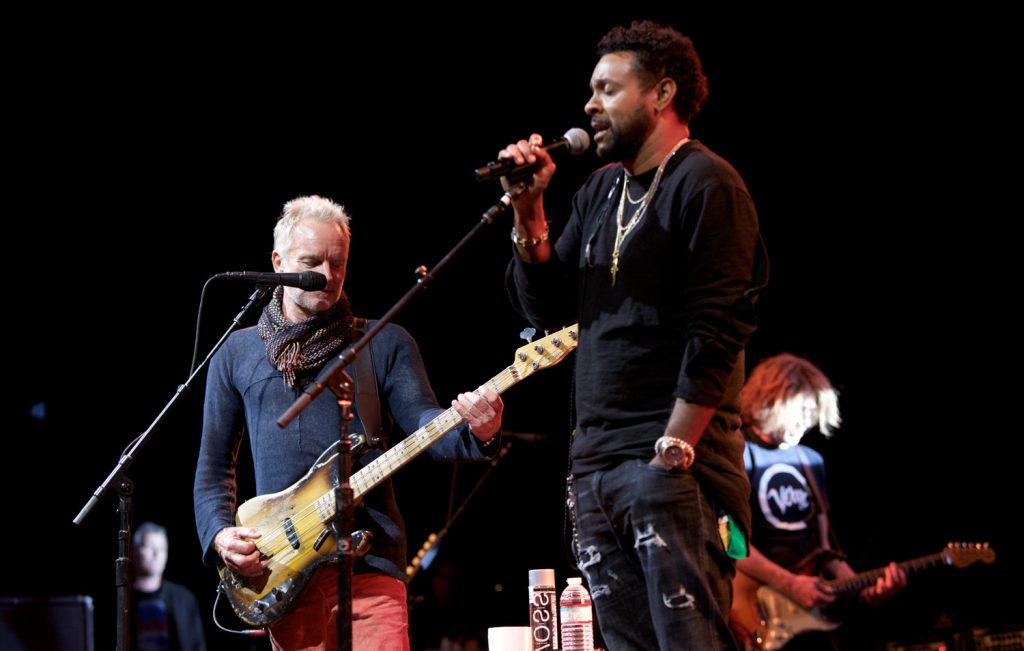 Sting and Shaggy performed for an audience of 50 USC Thornton students.