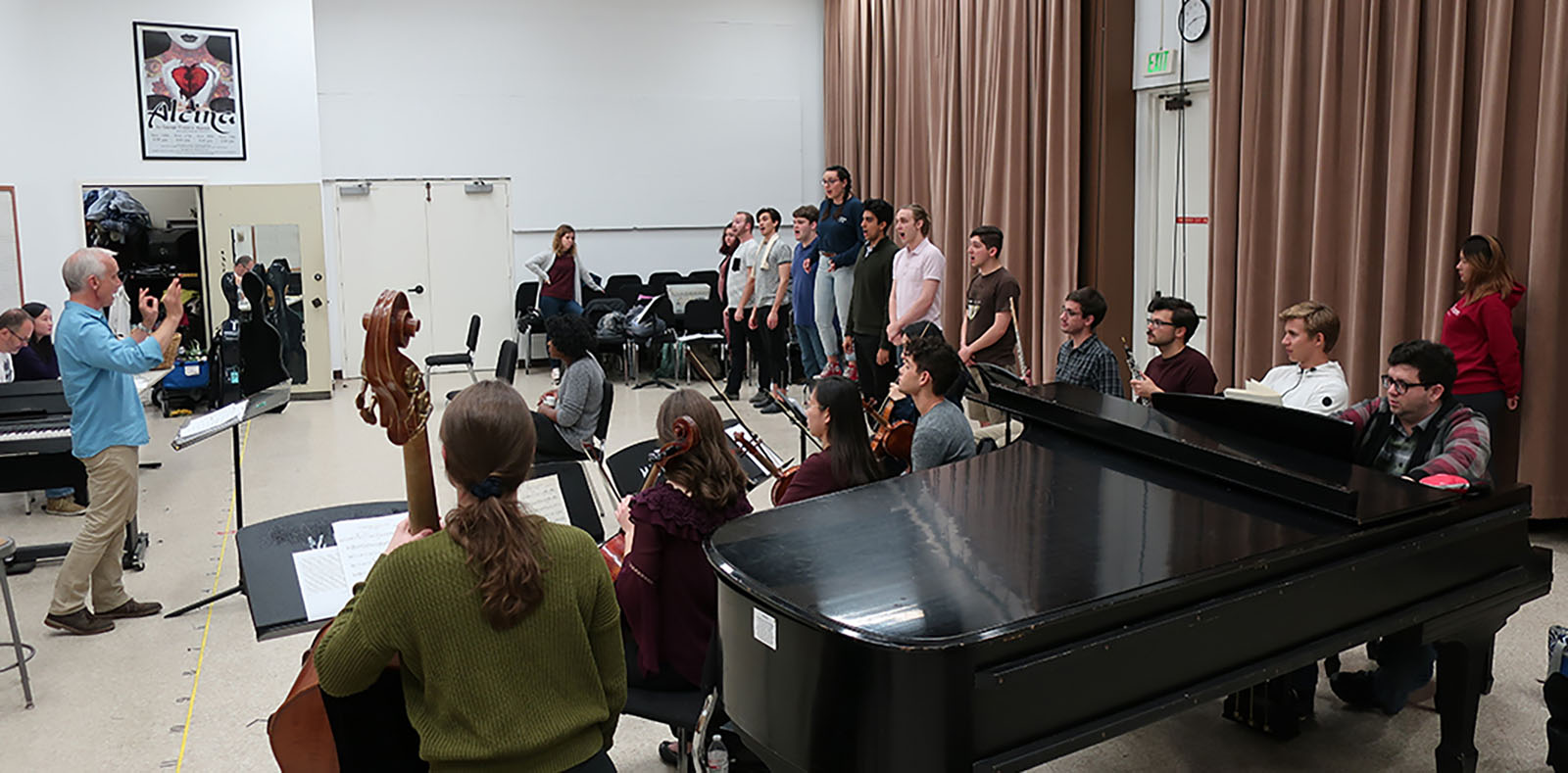 The USC Thornton Opera Program rehearsing for their Friday, Feb. 1 Opera Scenes Concert.