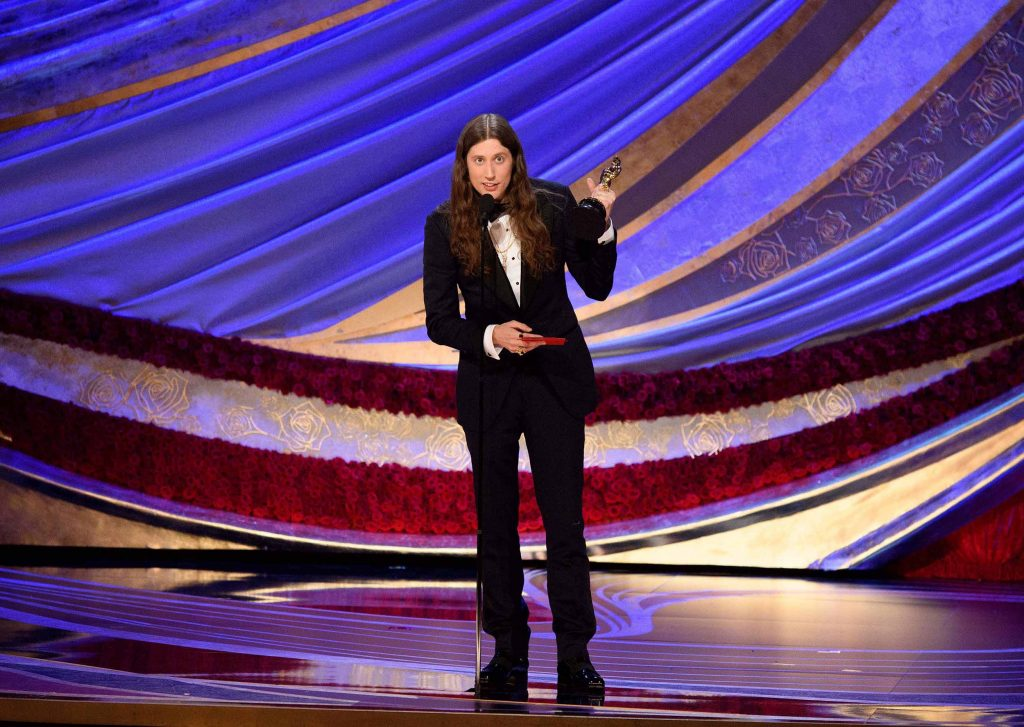 Ludwig Goransson accepts the Oscar® for achievement in music written for motion pictures (original score) during the live ABC Telecast of The 91st Oscars® at the Dolby® Theatre in Hollywood, CA on Sunday, February 24, 2019. (Photo by Aaron Poole / ©A.M.P.A.S.)