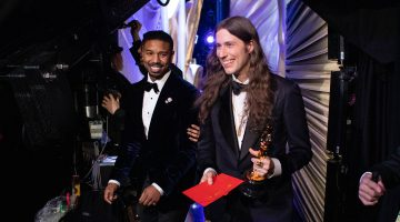 Ludwig Goransson poses backstage with the Oscar® for achievement in music written for motion pictures (original score) during the live ABC telecast of the 91st Oscars® at the Dolby® Theatre in Hollywood, CA on Sunday, February 24, 2019. (Photo by Matt Sayles / A.M.P.A.S)
