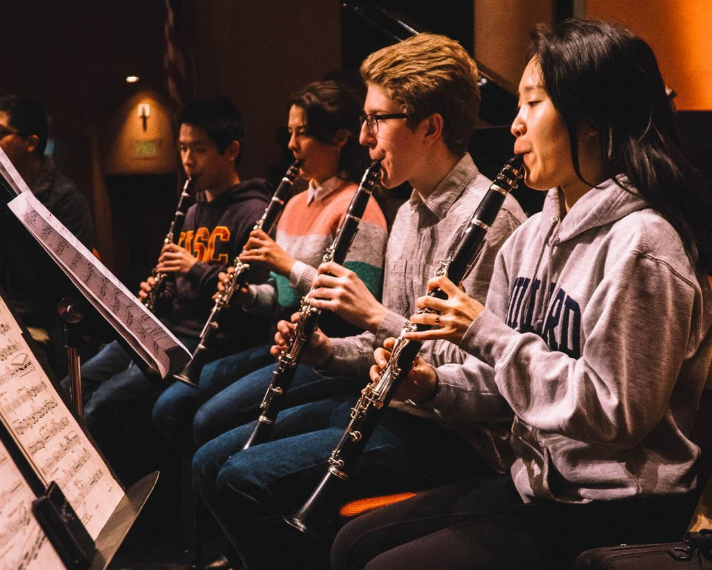 USC Thornton clarinetists at CBDNA 2019. (Photo by Chris O'Brien)
