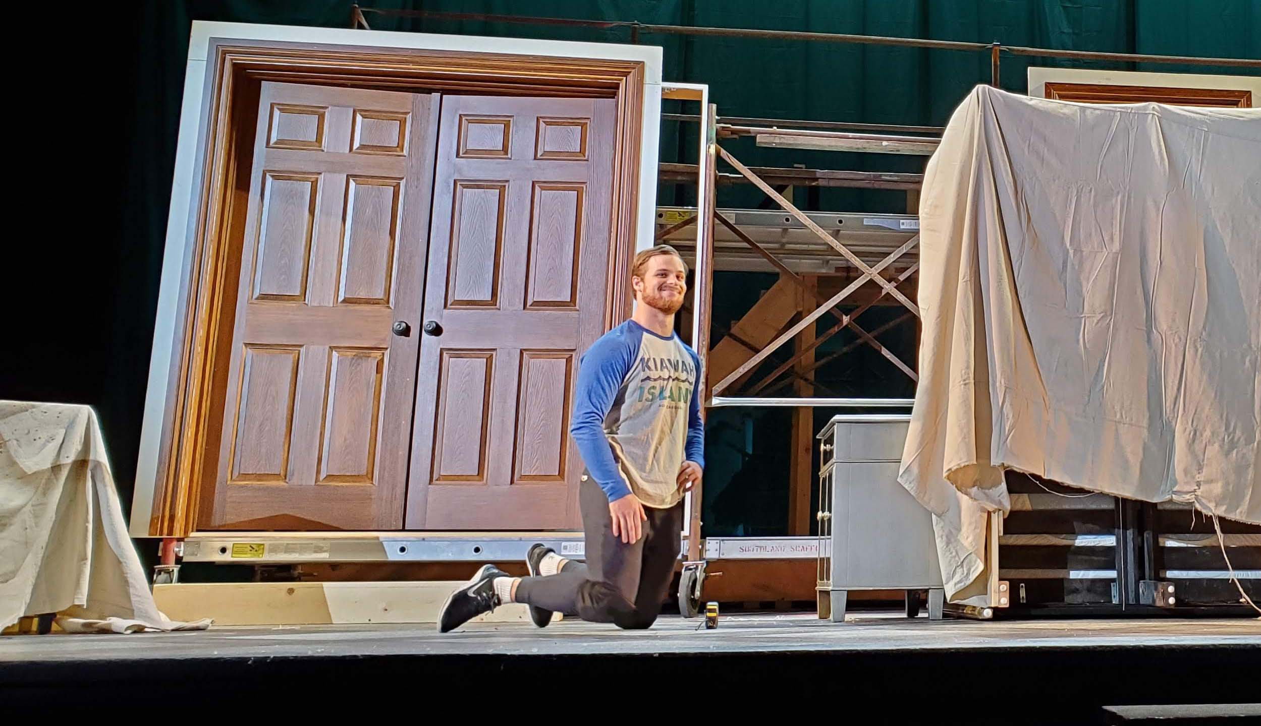 "Peter Barber rehearses for ""Le nozze di Figaro,"" opening tonight at the Bing Theatre."