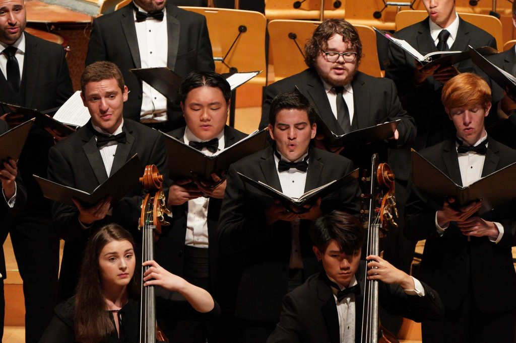 "USC Thornton Choral Artists and strings students perform Morten Lauridsen's ""Lux Aeterna."""