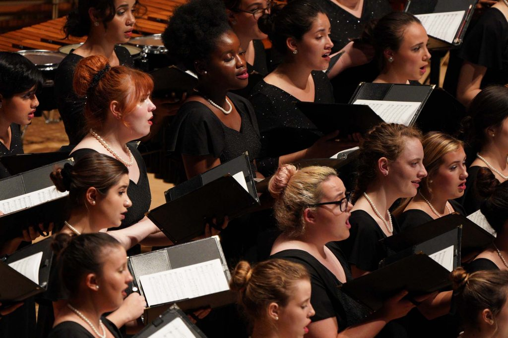 USC Thornton Choral Artists perform at Walt Disney Concert Hall.