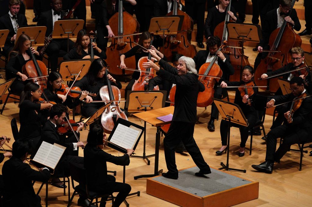 Carl St.Clair leads the USC Thornton Symphony, Wind Ensemble and Choral Artists.