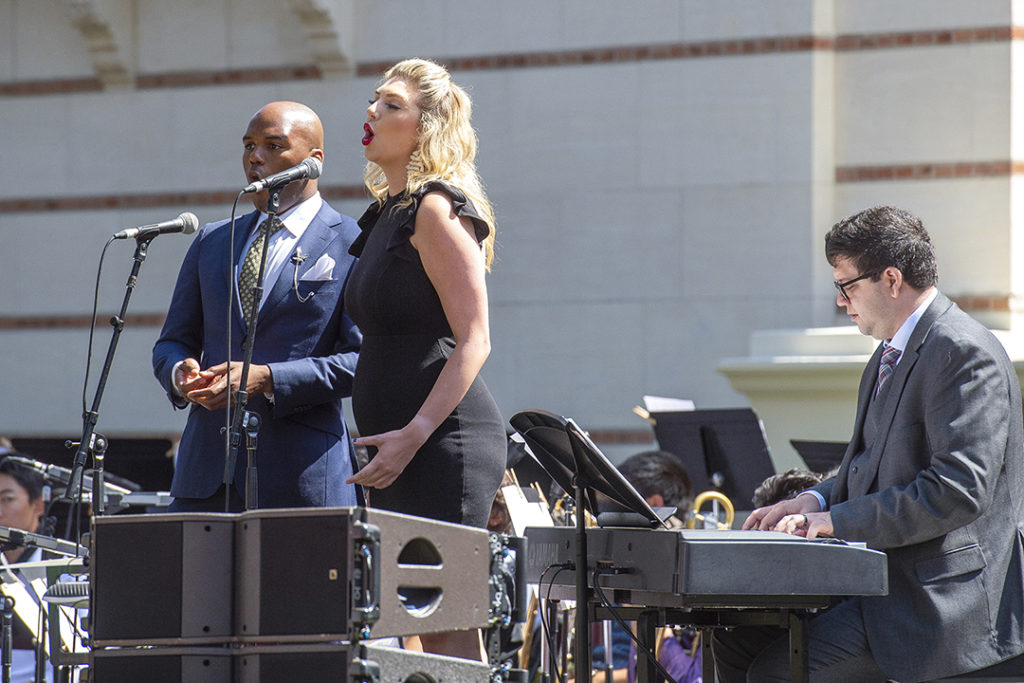 Lamarcus Miller, Natalie Sheppard, and Alexander Lansburgh performed Bernstein.