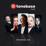 Image of Tonebase logo with photos of musicians