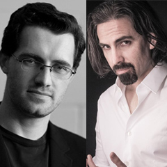 Dual image of Austin Wintory and Bear McCreary