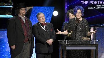 Photo of Nadia Shpachenko accepting Grammy award