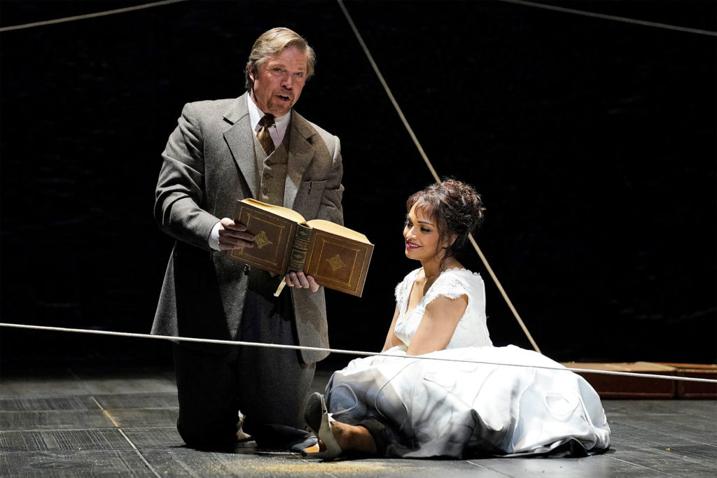 """Photo of Rod Gilfry and Danielle de Niese in character for """"Eurydice"""""""