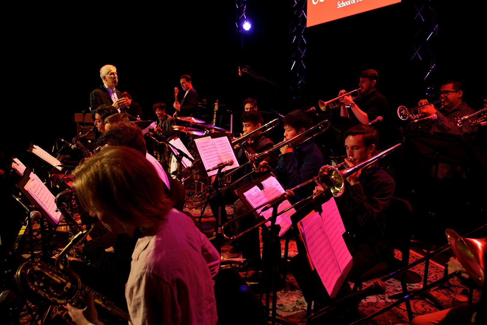 Bob Mintzer conducting the Thornton Jazz Orchestra