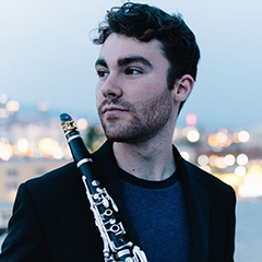 Max Opferkuch with clarinet