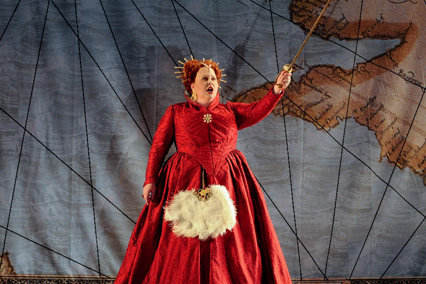 Angela Meade in costume