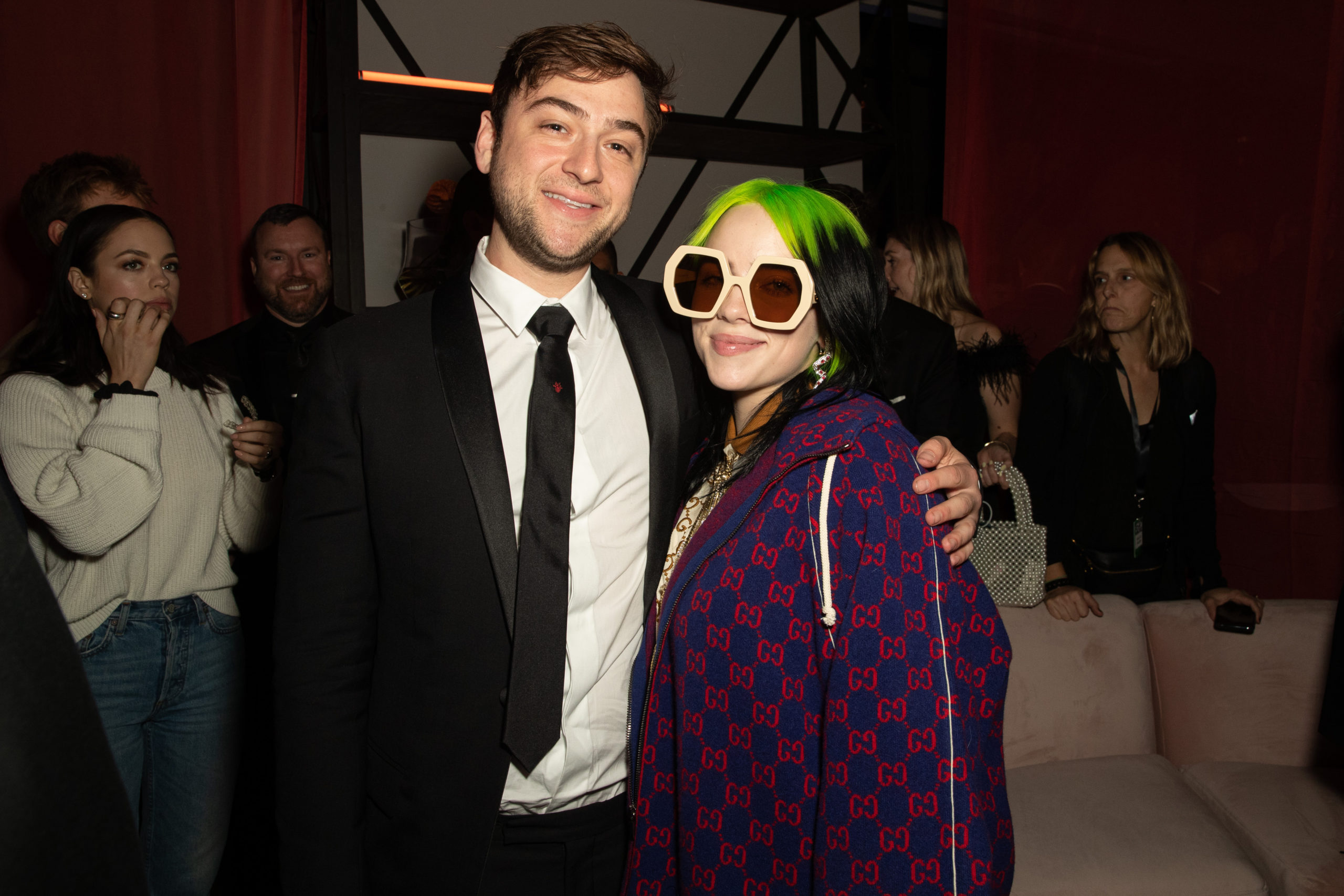 Justin Lubiner and Billie Eilish