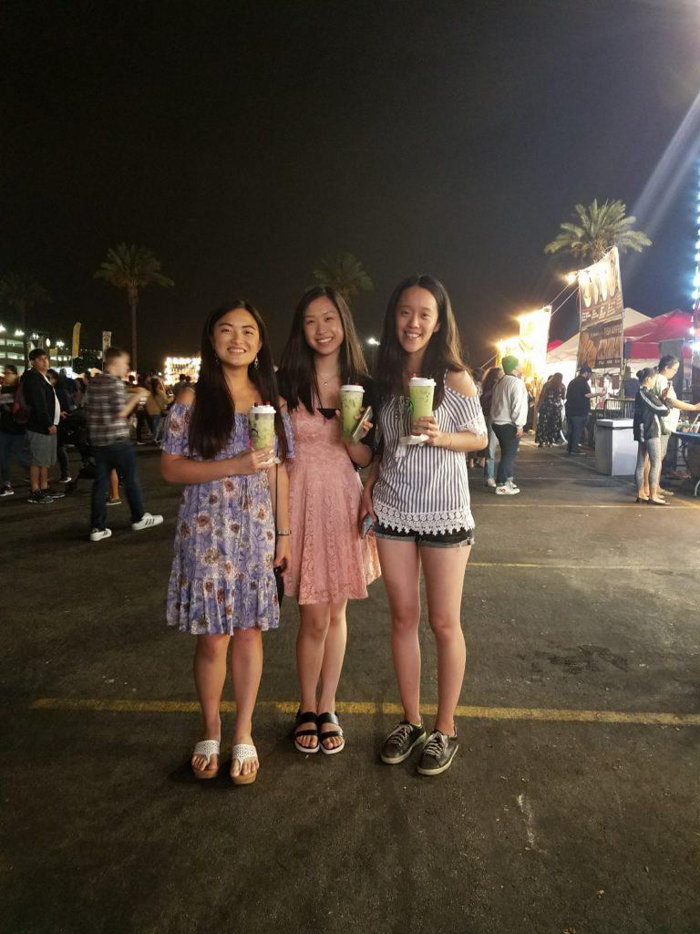 Fellow Keyboard Studies students Shelby Wong (BM '20), Clarice Kwan, and Tiffany Chen (BM '20) visit 626 Night Market