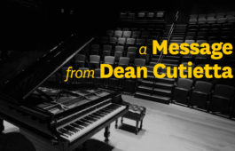 a message from Dean Cutietta