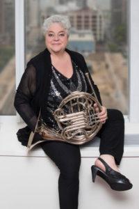 Julie Landsman with french horn