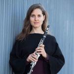 Yasmina Spiegelberg holding clarinet
