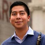 Javier Morales-Martinez holding clarinet