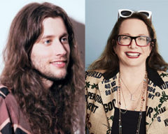 Side by side images of Ludwig Goransson and Laura Karpman