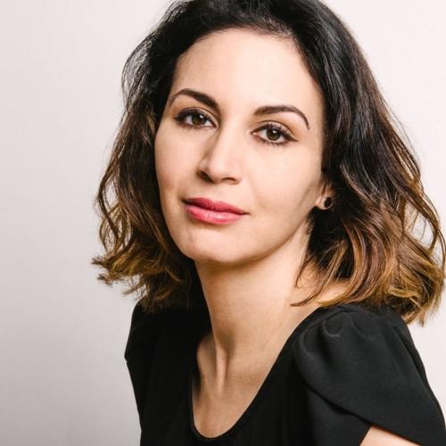 Portrait of Leaha Maria Villareal against white backdrop