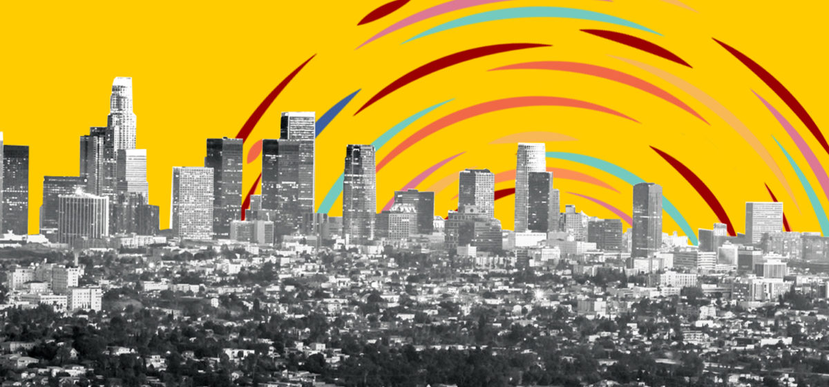 Colorful illustration of Los Angeles