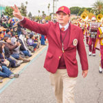 Photo of USC Trojan Marching Band with Jacob Vogel