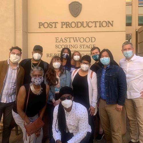 Group photo of Tonality outside Eastwood Scoring Stage at Warner Bros. Studios - Burbank, CA