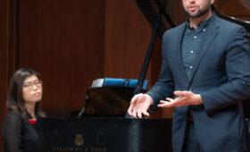 Pianist accompanies classical singer